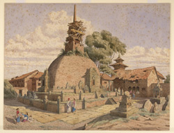 Temple of Kathisambhu, Katmandu (Nepal). November 1852